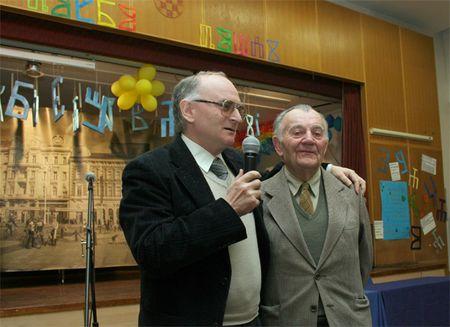Profesor Darko Žubrinić i dramski umjetnih Stjepan Bahert
