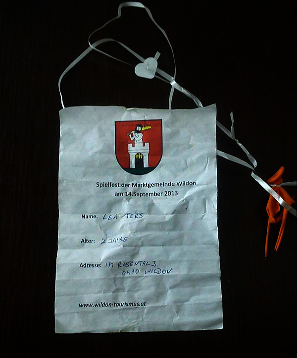 Pismo je poslala dvogodišnja Lea Ters iz Austrije