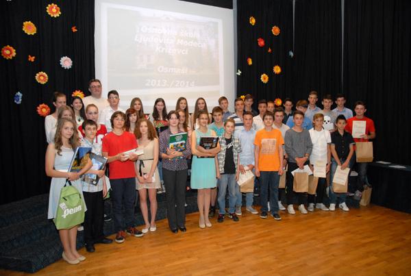 Učenici koji su sudjelovali na županijskim i državnim natjecanjima