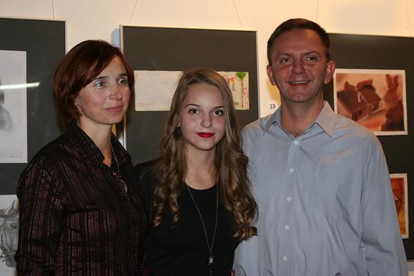 Zrinka s roditeljima