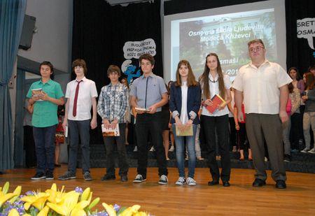 Nagrađeni učenici koji su sudjelovali na natjecanjima.