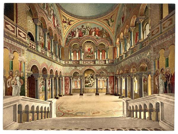 Prijestolna dvorana, razglednica s kraja 19. st.